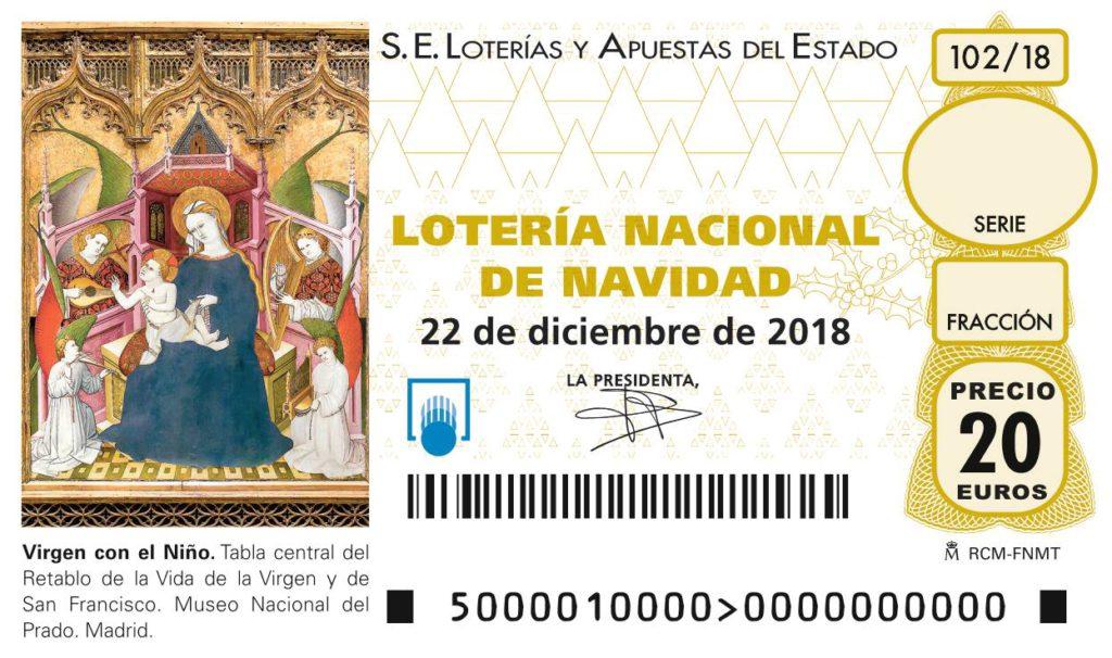 Décimo Lotería Navidad 2018